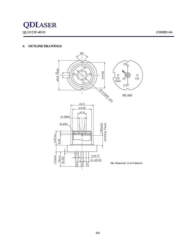 1240nm Dfb Laser 30mw