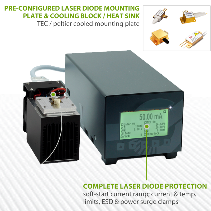 1550nm 3W ldx-500-laser-diode-controller-and-heat-sink-system-5