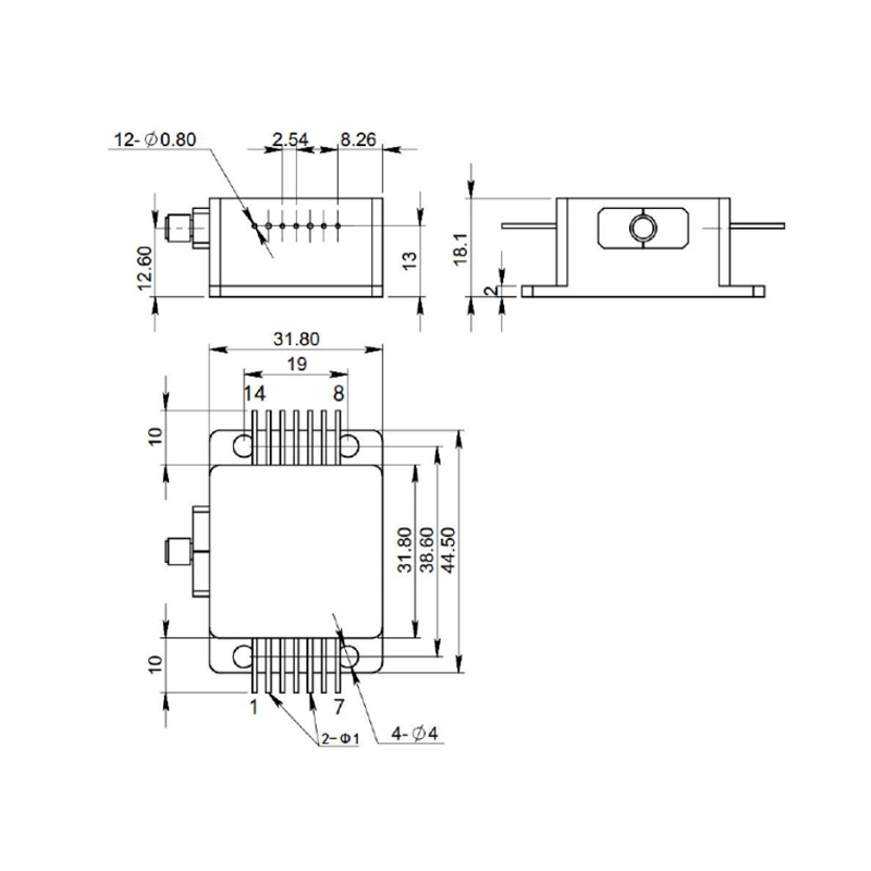 808nm 9Watt laser diode diagram