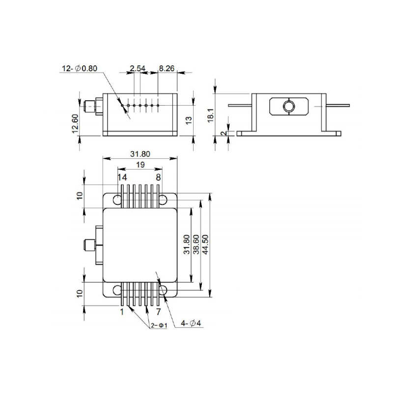Diagram Laser Diode Module 915nm 10Watt
