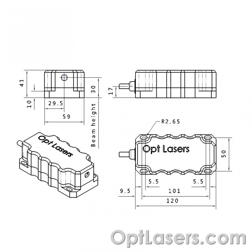 Blue Laser Diode Module Drawing