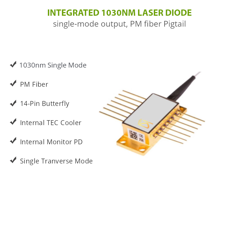 1030nm Laser Diode Butterfly Features